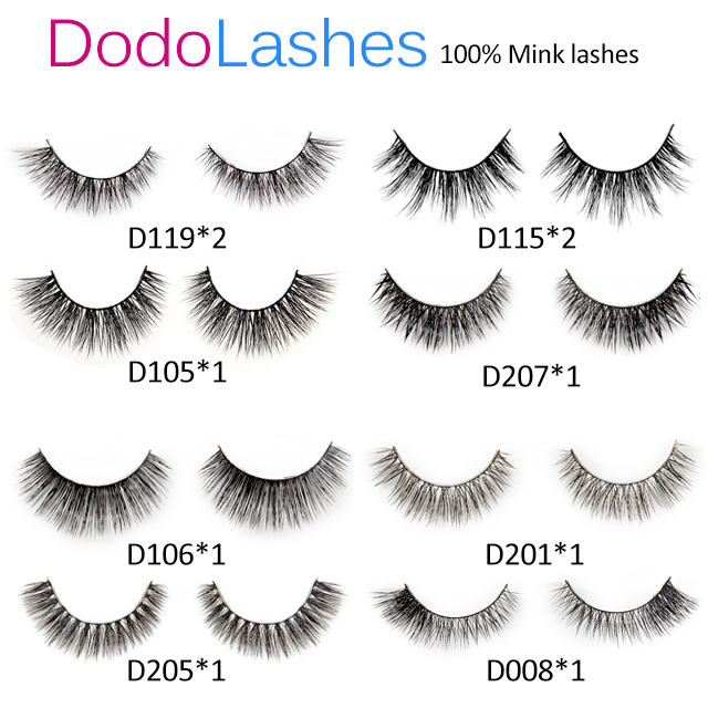 12 Pairs Hottest Mink Lashes Dodolashes Mink Lashes Only 5 12