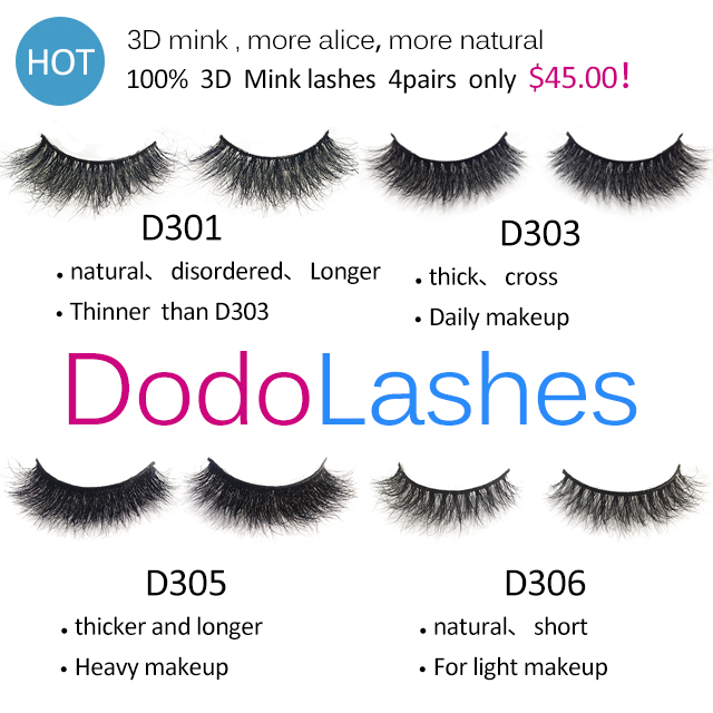 813e6230fa4 4 pairs 3D mink lashes | DODOLASHES -Mink lashes- ONLY $5-$12, FREE ...